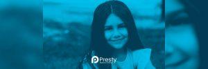 niña sonriendo presty